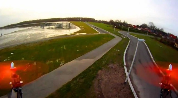 Afternoon-FPV-quadcopter-flying