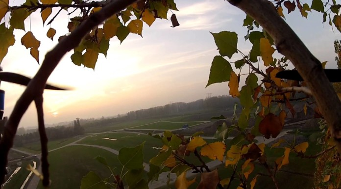 Quadcopter-failsafe-landing-on-tree-and-rescue