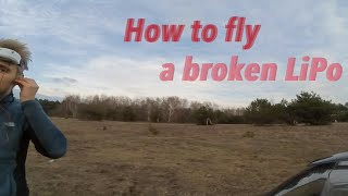 How-to-fly-on-a-broken-LiPo-FPV-DRONE-RACING-ROTORACER-RR210