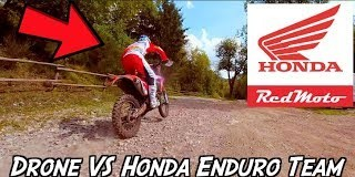 Racing-Drone-vs-Honda-Enduro-Team
